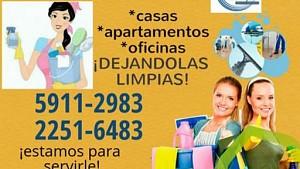 Servicios de LIMPIEZA en casas, oficinas y apartamentos