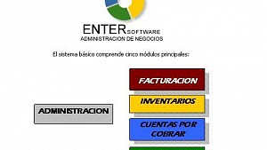 Enter Software - Gestion de facturacion - inventarios - Cobros - Pagos - Caja -