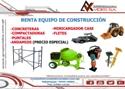 ANDAMIOS. Renta de Maquinaria y Equipo para Construcción.