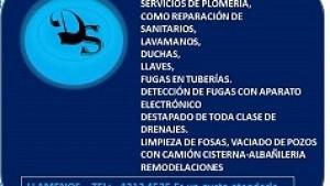 PLOMERO, PLOMERIA, DESTAPADO DE DRENAJES. FOSAS, POZOS.