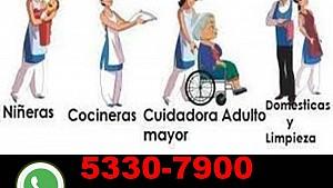 Agencia de Servicios Domesticos. Contactenos al 5330-7900