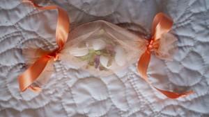 Alemndras confitadas y bolsas de organza