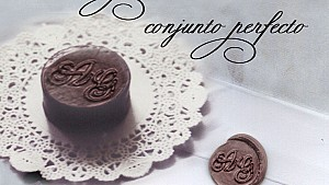 Chocolates con iniciales