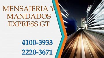 Mandados y Mensajería Express Gt 4100-3933 / 2220-3671 en Guatemala Guatemala