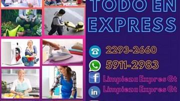 TODO EN EXPRESS, LAVADO Y PLANCHADO, NIÑERAS, COCINERAS,  en Guatemala Guatemala